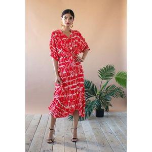 Eva Franco Leyla Skirt in Red Script